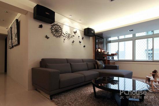 简约风格客厅背景墙装修效果图